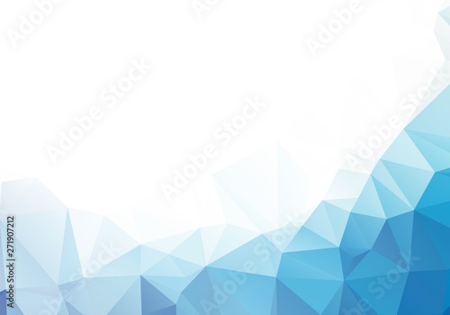 Cuadros en Lienzo Abstract mosaic Blue Polygonal Geometric Triangle Background, Low Poly Style