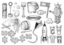 Toy Collection Illustration, D...