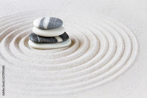 Acrylic Prints Stones in Sand Zen japanese garden background