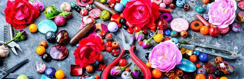Fototapeta Beads, colorful beads