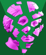 canvas print picture Modern conceptual art poster with green pink broken antique Venus bust. Contemporary art collage.