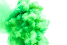 Green Smoke Like Clouds Backgr...
