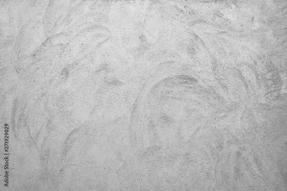 Fototapeta Old brushed gray concrete wall