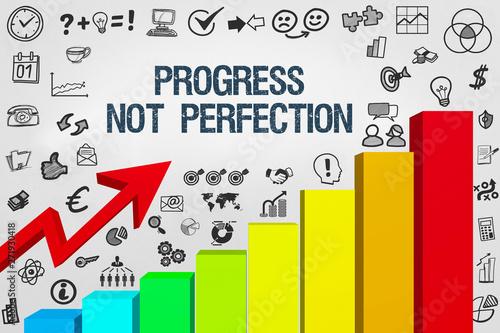 Pinturas sobre lienzo  Progress, not perfection