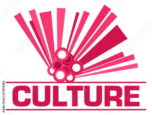 Photo sur Toile Les Textures Culture Pink Graphical Element Text