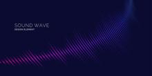 Sound Wave. Vector Illustration On Dark Background