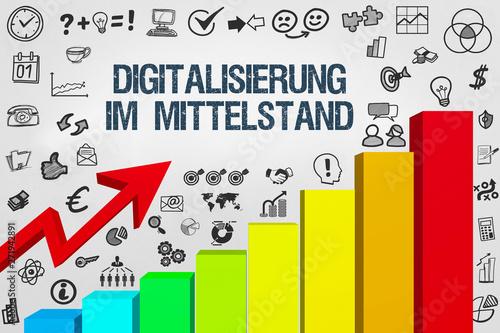 Digitalisierung im Mittelstand Wallpaper Mural
