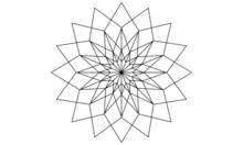 Black And White Star Shape Mandala