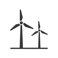 Black Silhouette Windmill Alternative And Renewable Energy Icon Vector Illustration