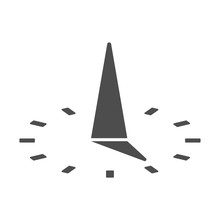 Sundial Vector Icon Isolated On White Background. Sundial Flat Icon For Web, Mobile And User Interface Design
