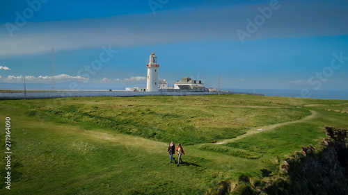 Loop Head at County Clare in Ireland - aerial drone footage - travel photography Wallpaper Mural