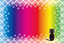 #Background #wallpaper #Vector #Illustration #design #free #free_size #charge_free #colorful #color Rainbow,show Business,entertainment,party,image  背景素材壁紙,写真フレーム,メッセージ枠,猫,足跡,肉球,ペット,コピースペース,動物病院,広告宣伝