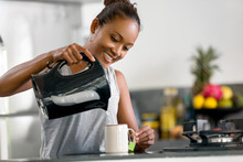Indonesian Woman Making Coffee