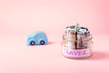 Travel Money Savings Concept. ...