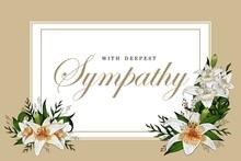 Condolences Sympathy Card Flor...