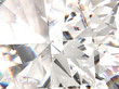 Realistic diamond texture refracted layers macro, 3D render