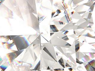 Realistic diamond texture refracted layers macro, 3D render