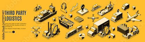 Fotografía Third party logistics, 3pl, transport, cargo export, import
