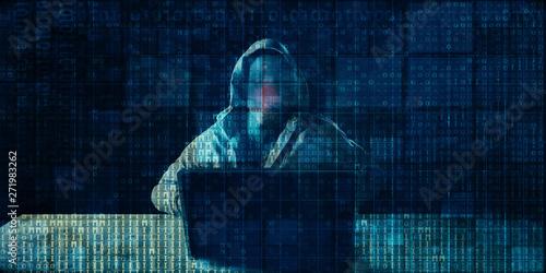 Digital Crime Billede på lærred