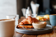 Breakfast Croissant With Coffee