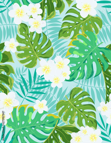 exotic vector jungle tropical pattern