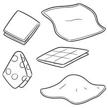 Vector Set Of Handkerchief