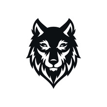 Wolf Vintage Logo Stock Vector