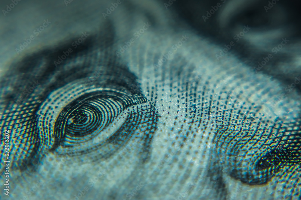 Fototapety, obrazy: Macro One Hundred Dollar Bills