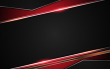 Metallic Red Black Frame Layout Design Tech Innovation Concept Abstract Background