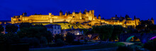 Illuminated Carcassonne Castle...