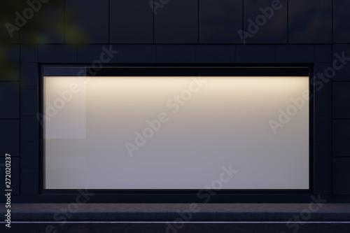 Fotografie, Obraz Horizontal mock up banner in shop window