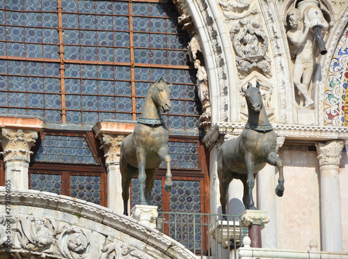 Canvas Prints Dragons The facade of San Marco Basilica in Venice The Patriarchal Cathedral Basilica of Saint Mark is the cathedral church of the Roman Catholic Archdiocese of Venice