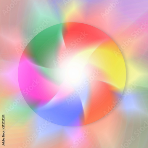 circle windmill blur light rainbow multi color religious,meditation, yoga, zen, peace, healing, related concept background