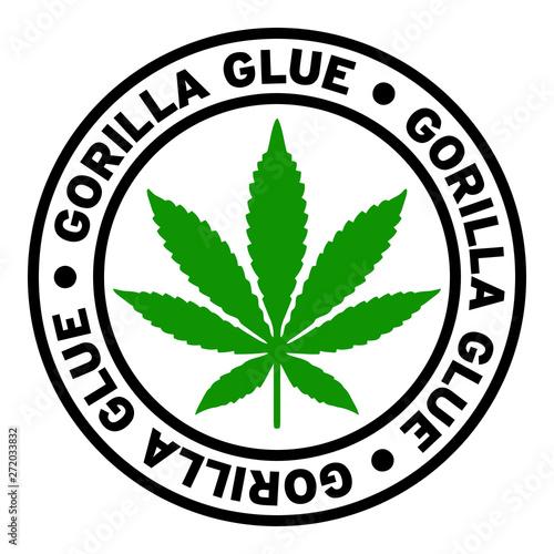 Round Gorilla Glue Marijuana Strain Clipart - Buy this stock