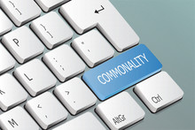 Commonality Written On The Keyboard Button