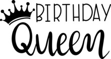 Birthday Queen Decoration For T-shirt