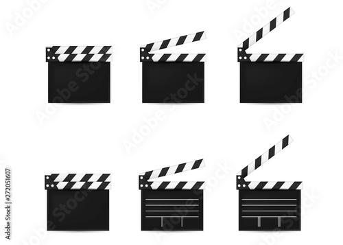 Fényképezés movie clapper board set. Open and Closed