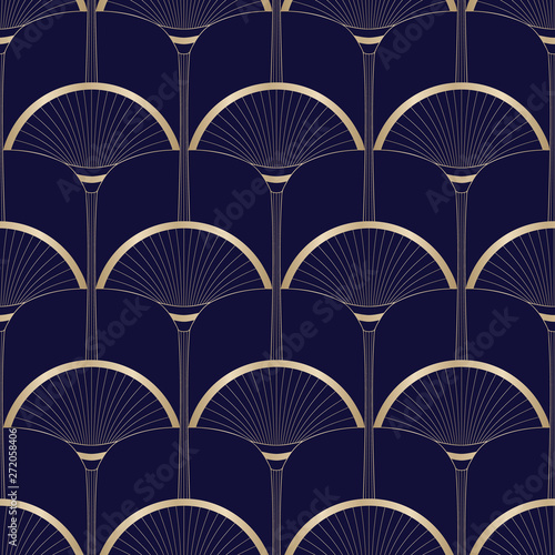 zlociste-art-deco-abstrakcjonistyczne-palmy-na-zmroku-blekitny-wektorowy-bezszwowy-wzor-abstrakcjonistyczny-egipski-geometryczny-tlo