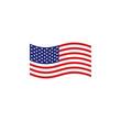 American flag icon logo design vector template
