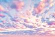 Leinwandbild Motiv Amazing sky clouds background. Beautiful clouds on sky