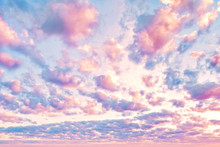 Amazing Sky Clouds Background. Beautiful Clouds On Sky
