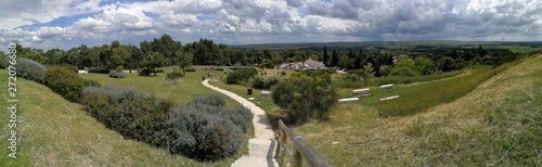 Andria - Foto panoramica da Castel del Monte Canvas Print