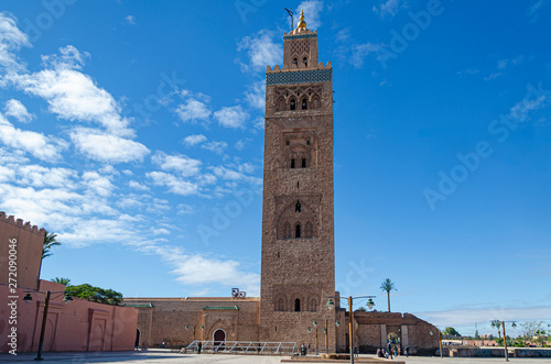 Koutoubia mosque in the city of Marrakesh. Morocco