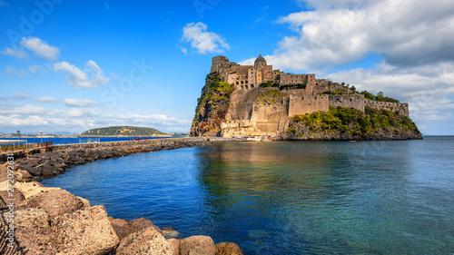 Fotomural Aragonese Castle on Ischia island, Italy