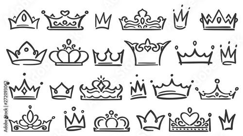 Fotografie, Obraz  Hand drawn crown