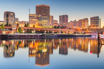 Tacoma, Washington, USA downtown skyline