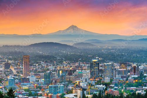 Slika na platnu Portland, Oregon, USA downtown