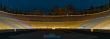 Panorama Of The Panathenaic Stadium Or Kallimarmaro At Night, Athens, Greece
