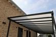 canvas print picture - Hochwertige Hofüberdachung aus Edelstahl und Glas