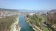 Aerial KKW Goesgen Nuclear Power Station